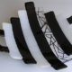 """Fused Glass Serving Platter- B&W """"Step Up: Contemporary""""- Large"""