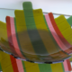 """Fused Glass Serving Platter- Green """"Step Up: Traditional""""- Large"""