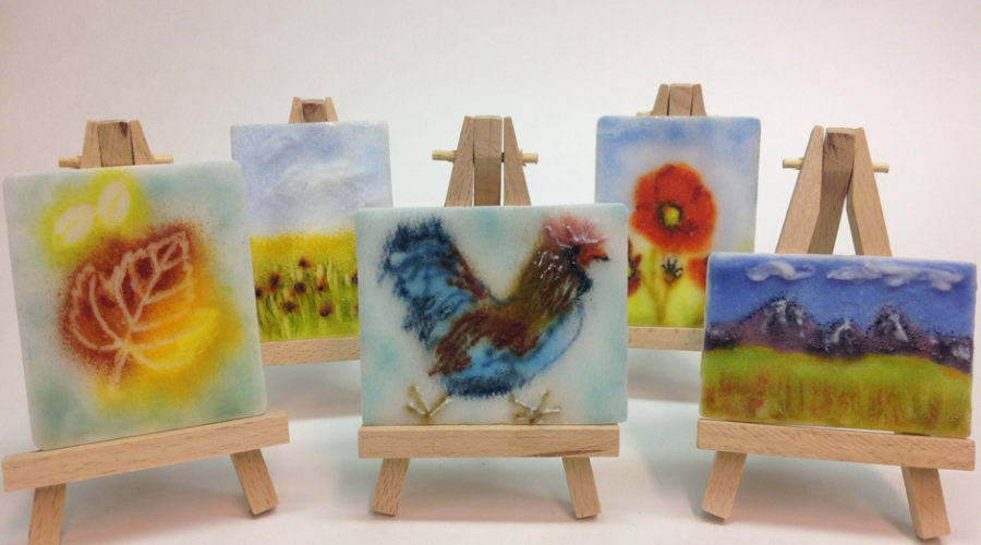 Assorted Frit Paintings