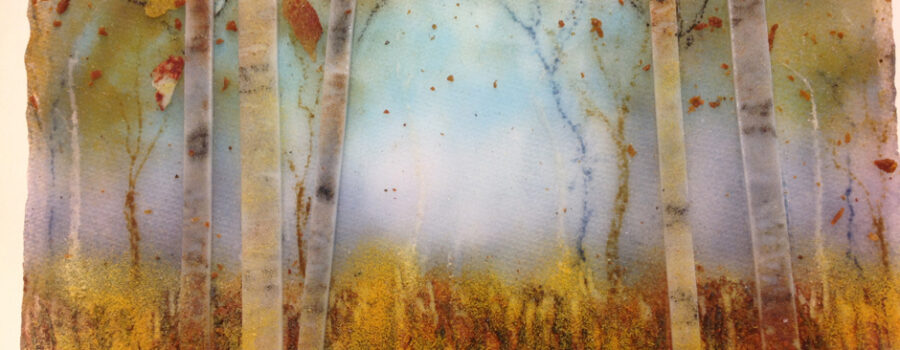 Autumn Woods Frit Painting