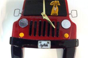 "Jeep Wall Clock- Red ""Joy Ride"""