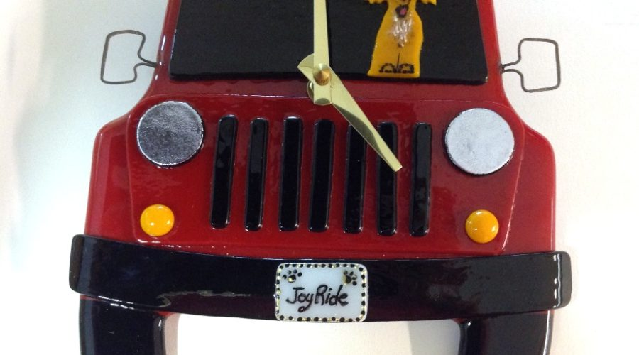 "Jeep Wall Clock- Red ""Joy Ride"""