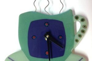 Coffee Cup Wall Clock- Green