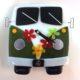 "VW Bus Wall Clock- Green ""Time Traveler"""