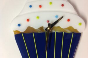 Cupcake Wall Clock- Blue