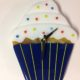 "Cupcake Wall Clock- Blue ""Bliss in a Cup"""
