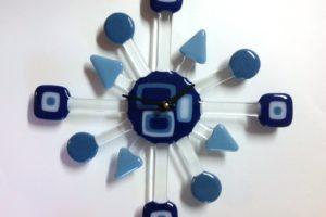 Retro Wall Clock- Geo Blue