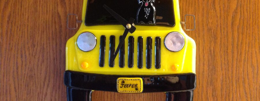 Jeep Wall Clock with Boston Terrier