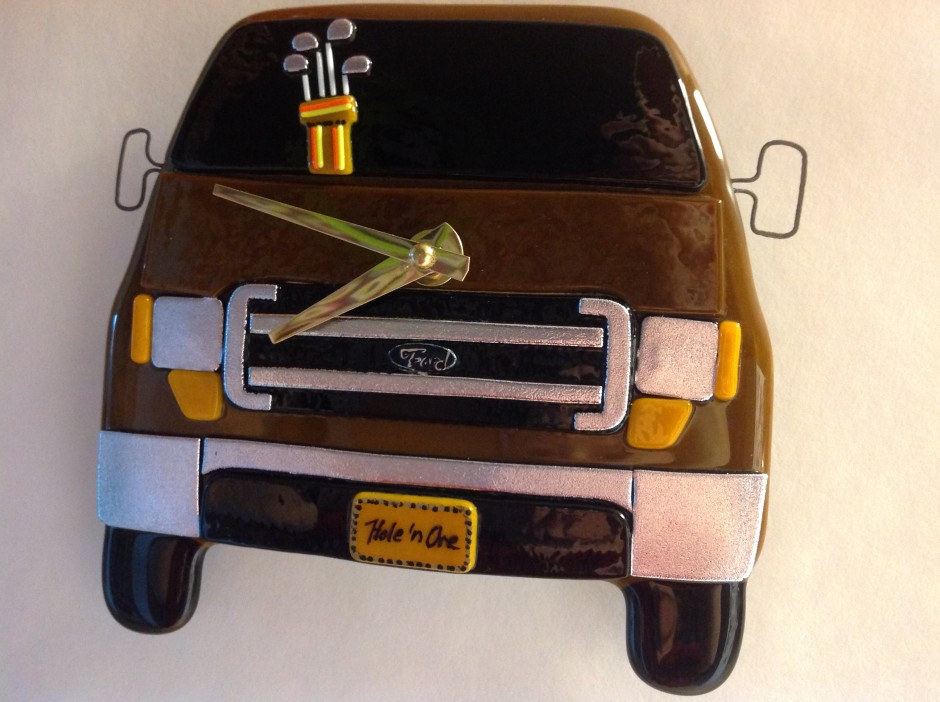 Ford Truck Wall Clock- with Golf Clubs