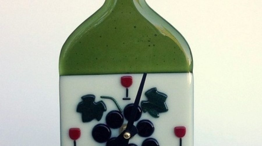 Wine Bottle Wall Clock