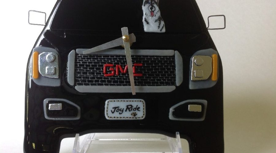 GMC Yukon Wall Clock with Huskey at the Wheel