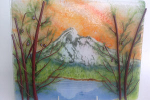 Mountain Frit Painting