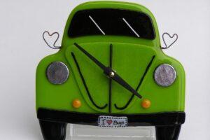 VW Bug Wall Clock- Lime