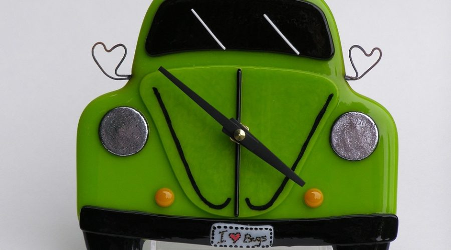 VW Bug Wall Clock- Lime