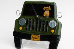 "Jeep Wall Clock- Green ""Joy Ride"""