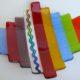 "Fused Glass Plate- Multi-Colored ""Step Up"" – Medium"