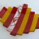 """Fused Glass Plate- Red & Yellow """"Step Up""""- Medium"""