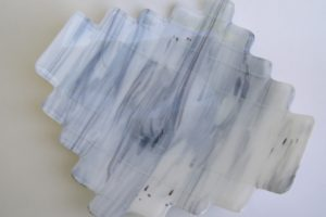 Fused Glass Plate- Birch