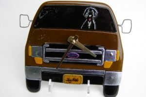 Ford Truck Wall Clock with Portuguese Water Dog