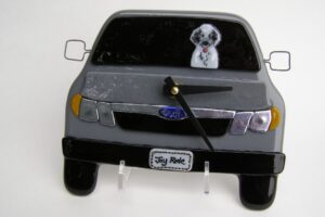 Subaru Wall Clock with Tibetan Terrier