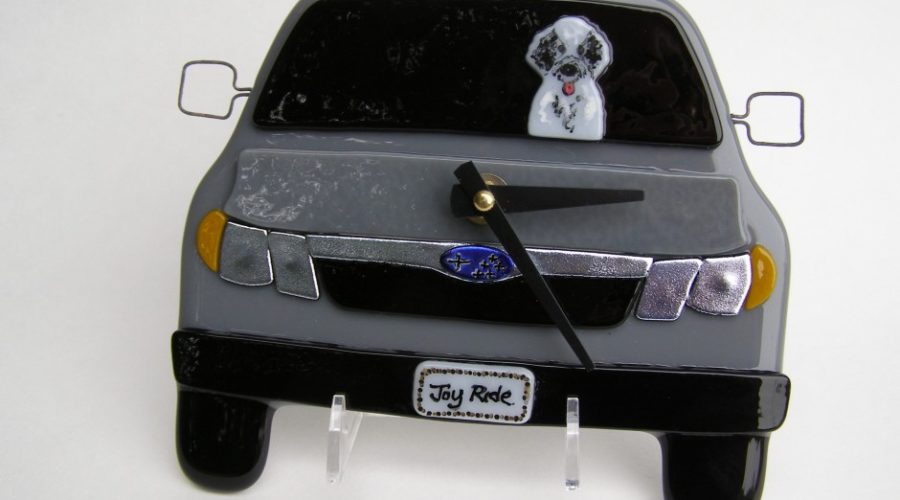 Subaru Wall Clock with Tibetan Terrier