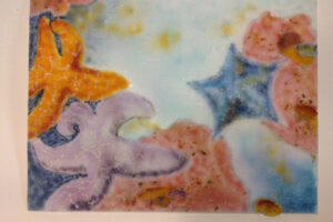 Sea Star Frit Painting